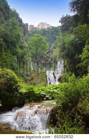 Italy. Tivoli. Falls on Gregorian Villa