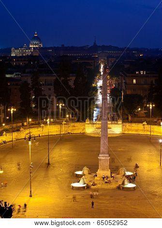 Rome. Italy. Piazza del Popolo