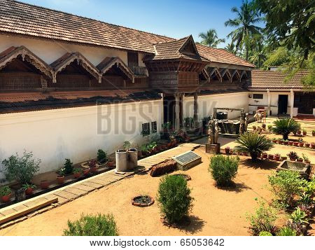 The ancient wooden palace Padmanabhapuram of the maharaja in Trivandrum