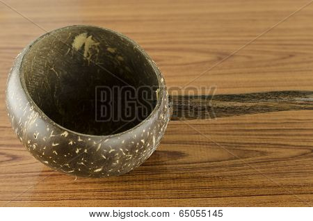 Thai Wood Bowl Container For Drinking Water