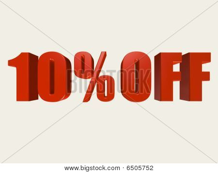 Ten Percent Off Sign
