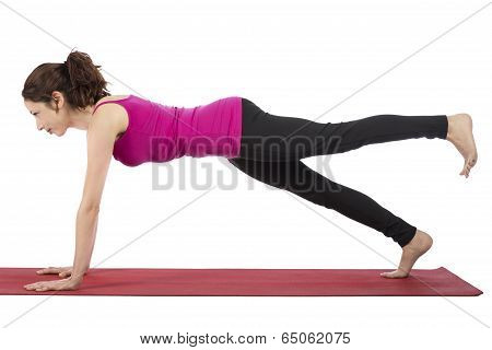 Young Sporty Woman Doing Fitness