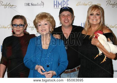 LOS ANGELES - MAY 14:  Carrie Fisher, D Reynolds, Todd Fisher, C Hickland at the