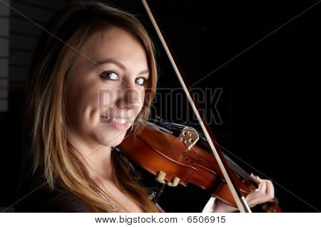 Girl Play On Violin