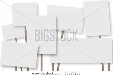 Many A Banner On White Background