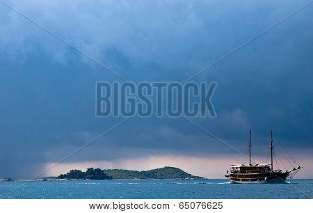Ship Under A Storm