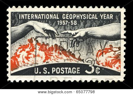 International Geophysical Year Us Postage Stamp