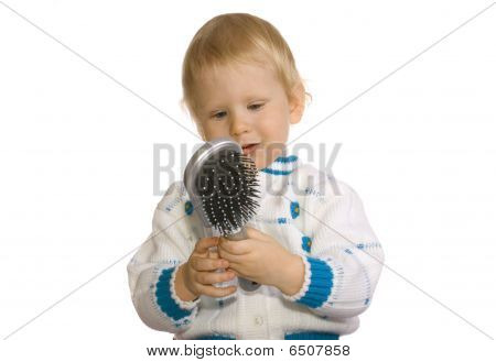 Girl And Comb