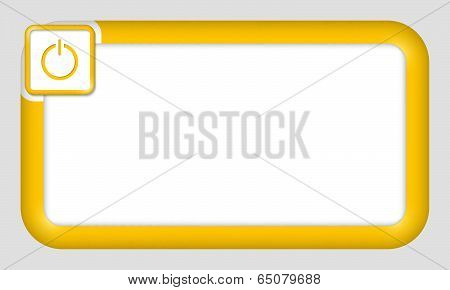 Vector Frame For Text Insertion With Power Button