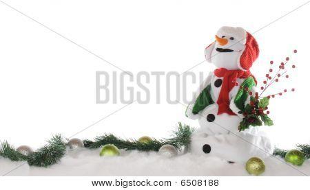 Christmas Snowman Border