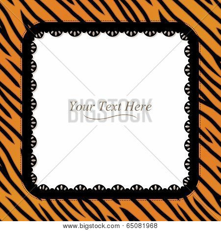 Tiger Striped Square Frame