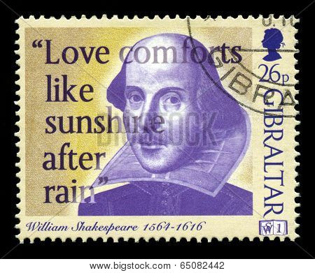 William Shakespeare Postage Stamp