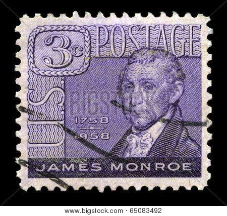 James Monroe Us Postage Stamp
