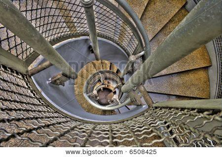 Escada de aço espiral