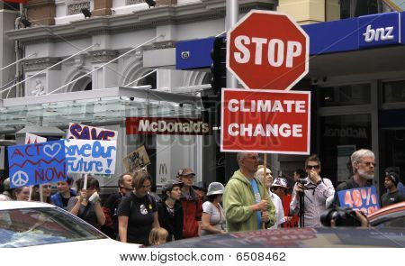 Green Peace Climate Change campaign protest march