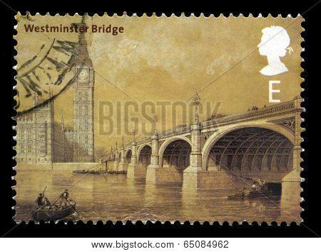 Westminster Bridge Uk Postage Stamp