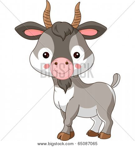 Farm animals. Illustration of cute Goat