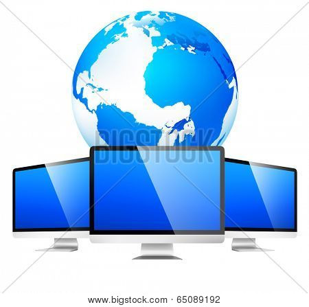 Global networking with monitor.