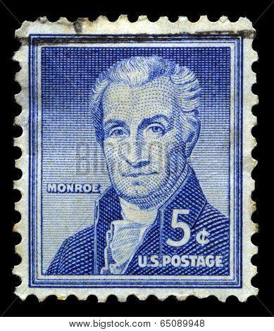 President James Monroe Us Postage Stamp