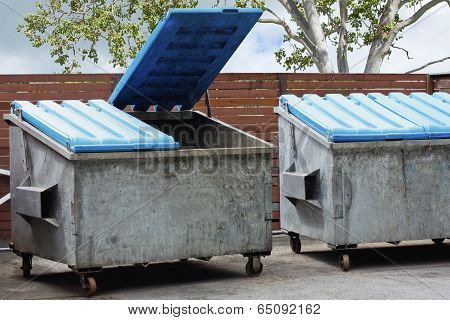 Two Large Rubbish Bins