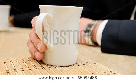 Cup Of A Hot Drink