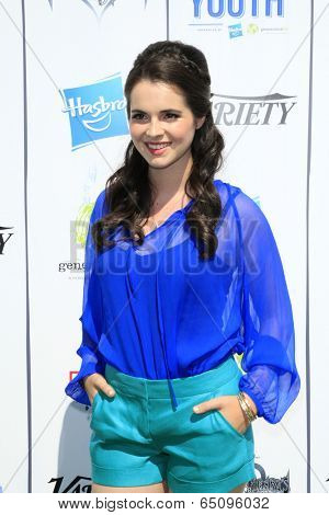 LOS ANGELES - JUL 27:  Vanessa Marano at the Variety's Power of Youth  at Universal Studios Backlot on July 27, 2013 in Los Angeles, CA