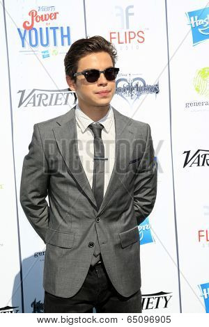 LOS ANGELES - JUL 27:  Jake T. Austin at the Variety's Power of Youth  at Universal Studios Backlot on July 27, 2013 in Los Angeles, CA