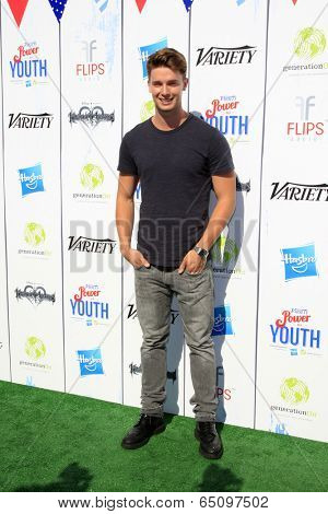 LOS ANGELES - JUL 27:  Patrick Schwarzenegger at the Variety's Power of Youth  at Universal Studios Backlot on July 27, 2013 in Los Angeles, CA