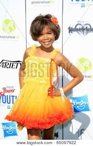 LOS ANGELES - JUL 27:  Storm Reid at the Variety's Power of Youth  at Universal Studios Backlot on July 27, 2013 in Los Angeles, CA