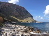 picture of puffy  - rocky beach outside of Palermo - JPG