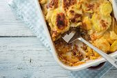 picture of mashed potatoes  - Moussaka - JPG