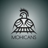 foto of mohawk  - native mohawk theme graphic art vector illustration - JPG
