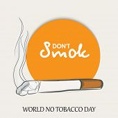pic of tobacco smoke  - Stylish sticker - JPG