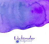 foto of violet  - Violet realistic watercolor texture vector abstract background - JPG