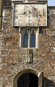 picture of sundial  - Sundial on the front of St Matthew - JPG