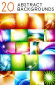 picture of twist  - Mega collection of shiny smooth color abstract vector background - JPG