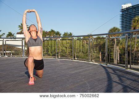 Hispanic Girl Doing Yoga