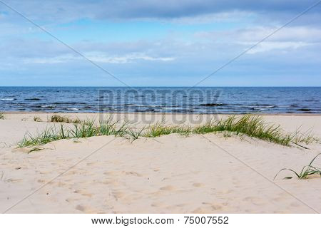 Baltic sea coast in Jurmala, Latvia