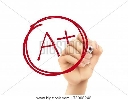 Education Rating A Plus Written By 3D Hand