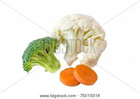Cauliflower, Broccoli and Carrot