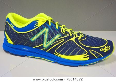 New Balance running shoe presented before  New York City Marathon in New York