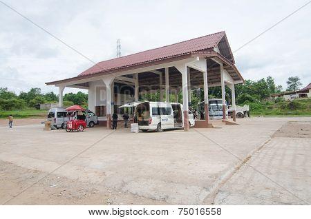 Bus Station In Sainyabuli, Laos