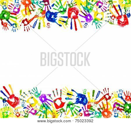 Framed Prints Of Hands On An Isolated White Backgroundeen, Finger, Design, Wallpaper, Stamp, Ornamen