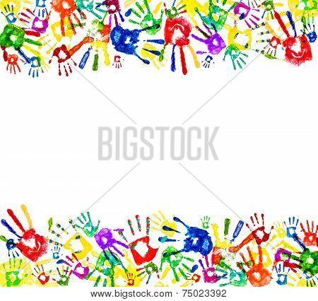 Framed Prints Of Hands On An Isolated White Backgroundeen, Finger, Design, Wallpaper, Stamp, Ornamen