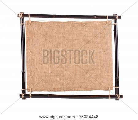 Bamboo frame with canvas.