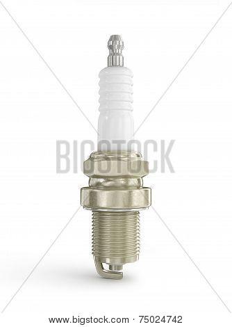 A Colourful 3d Rendered Sparkplug Concept Illustration