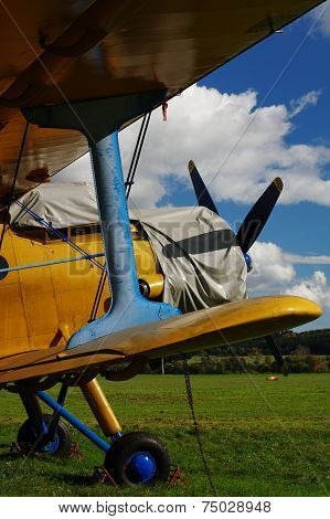 sporting biplane aircraft