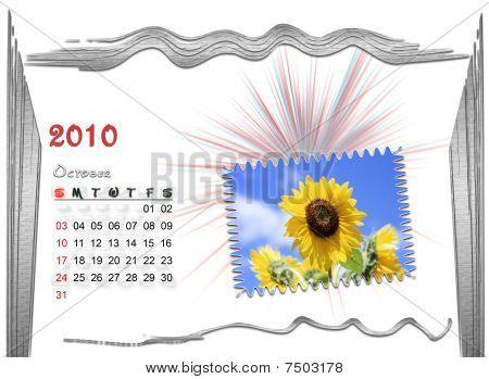 2010  Calendar october