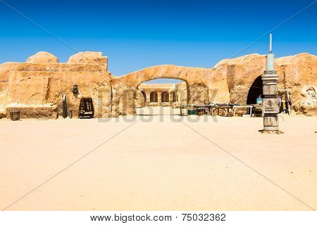 Nefta,Tunisia,August 15,2013:Set For The Star Wars Movie Still Stands In The Tunisian Desert
