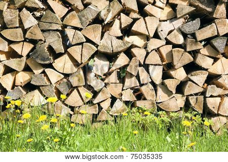 An image of a batch of firewood